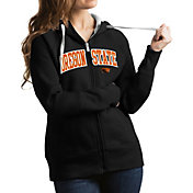 Antigua Women's Oregon State Beavers Black Victory Full-Zip Hoodie