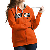 Antigua Women's Oregon State Beavers Orange Victory Full-Zip Hoodie
