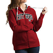 Antigua Women's Rutgers Scarlet Knights Scarlet Victory Full-Zip Hoodie