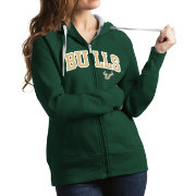 Antigua Women's South Florida Bulls Green Victory Full-Zip Hoodie