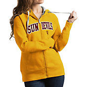 Antigua Women's Arizona State Sun Devils Gold Victory Full-Zip Hoodie