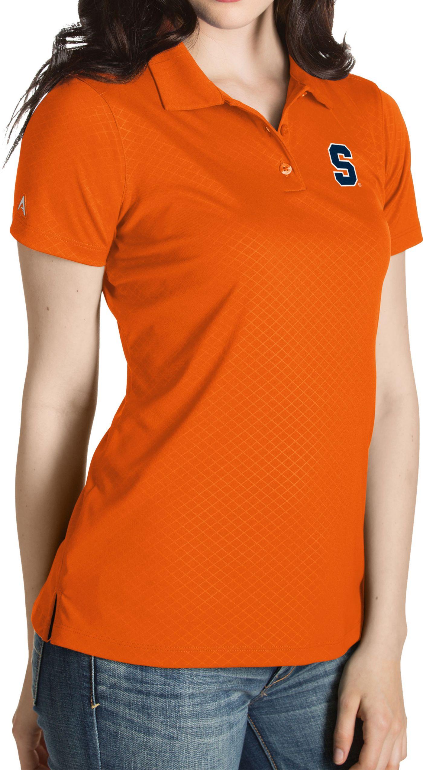 Antigua Women's Syracuse Orange Orange Inspire Performance Polo