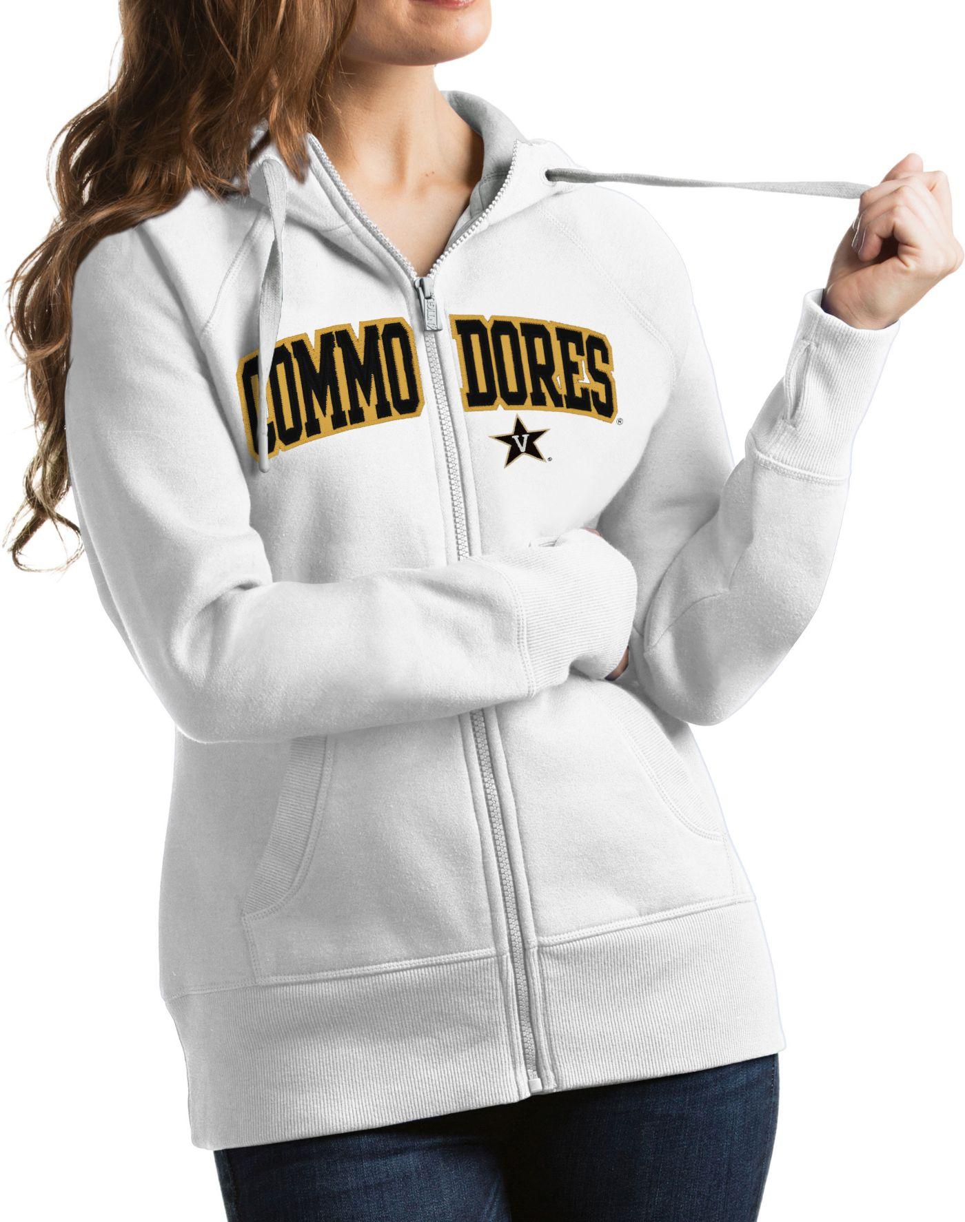 Antigua Women's Vanderbilt Commodores White Victory Full-Zip Hoodie