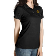 Antigua Women's Iowa Hawkeyes Black Inspire Performance Polo