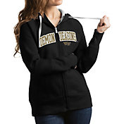 Antigua Women's Wake Forest Demon Deacons Black Victory Full-Zip Hoodie