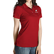 Antigua Women's Wisconsin Badgers Red Inspire Performance Polo