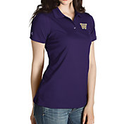 Antigua Women's Washington Huskies Purple Inspire Performance Polo