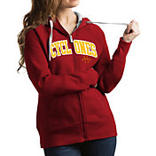 Antigua Women's Iowa State Cyclones Cardinal Victory Full-Zip Hoodie