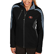 Antigua Women's San Francisco 49ers Discover Full-Zip Black Jacket