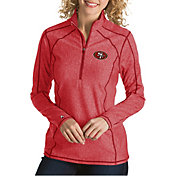 Antigua Women's San Francisco 49ers Tempo Red Quarter-Zip Pullover