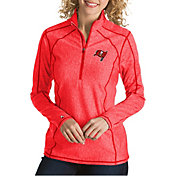 Antigua Women's Tampa Bay Buccaneers Tempo Red Quarter-Zip Pullover