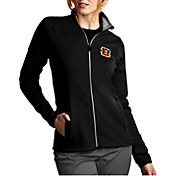 Antigua Women's Cincinnati Bengals Leader Full-Zip Black Jacket