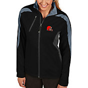 Antigua Women's Cleveland Browns Discover Full-Zip Black Jacket