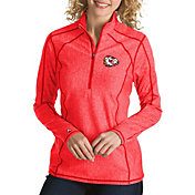 Antigua Women's Kansas City Chiefs Quick Snap Logo Tempo Red Quarter-Zip Pullover