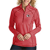Antigua Women's Kansas City Chiefs Tempo Red Quarter-Zip Pullover