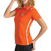 Antigua Women's Miami Dolphins Merit Orange Xtra-Lite Pique Polo