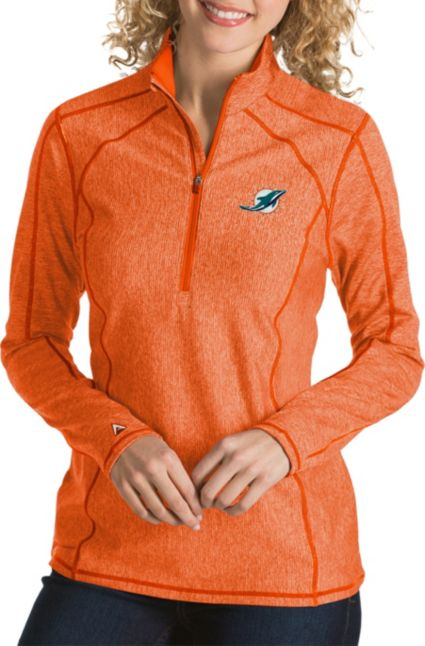 Antigua Women s Miami Dolphins Tempo Orange Quarter-Zip Pullover.  noImageFound 2b8a8eff2