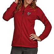 Antigua Women's Atlanta Falcons Quick Snap Logo Red Golf Jacket