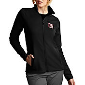 Antigua Women's New York Giants Leader Full-Zip Black Jacket