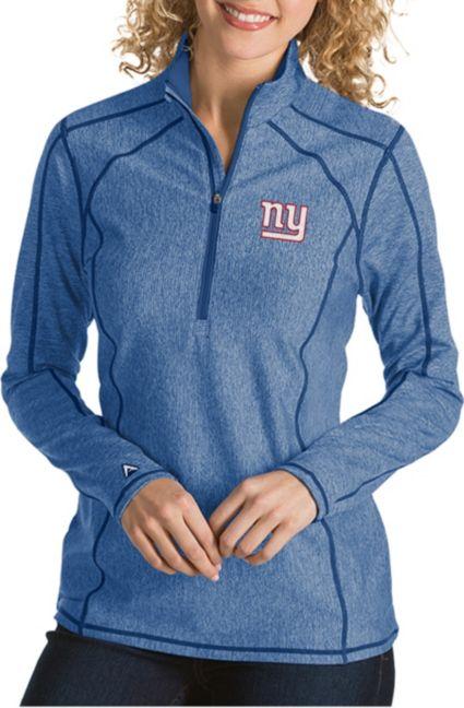 bd9637858 Antigua Women s New York Giants Tempo Royal Quarter-Zip Pullover ...