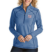 Antigua Women's New York Giants Tempo Royal Quarter-Zip Pullover