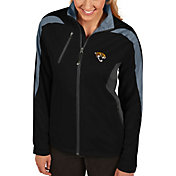 Antigua Women's Jacksonville Jaguars Discover Full-Zip Black Jacket