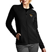 Antigua Women's Jacksonville Jaguars Leader Full-Zip Black Jacket