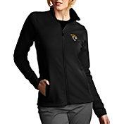 Antigua Women's Jacksonville Jaguars Leader Full-Zip Black Jacket
