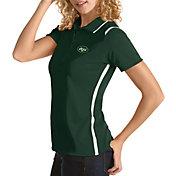 Antigua Women's New York Jets Merit Green Xtra-Lite Pique Polo