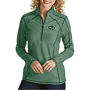Antigua Women's New York Jets Tempo Green Quarter-Zip Pullover