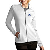 Antigua Women's Detroit Lions Leader Full-Zip White Jacket