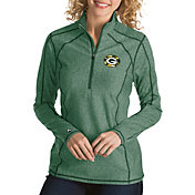 Antigua Women's Green Bay Packers Quick Snap Logo Tempo Green Quarter-Zip Pullover