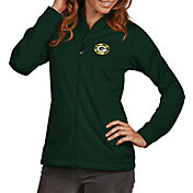 Antigua Women's Green Bay Packers Quick Snap Logo Green Golf Jacket