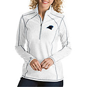 Antigua Women's Carolina Panthers Tempo White Quarter-Zip Pullover