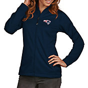 Antigua Women's New England Patriots Quick Snap Logo Navy Golf Jacket