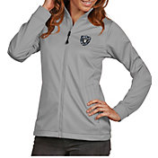 Antigua Women's Oakland Raiders Quick Snap Logo Silver Golf Jacket