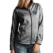 Antigua Women's Oakland Raiders Quick Snap Logo Black Golf Jacket