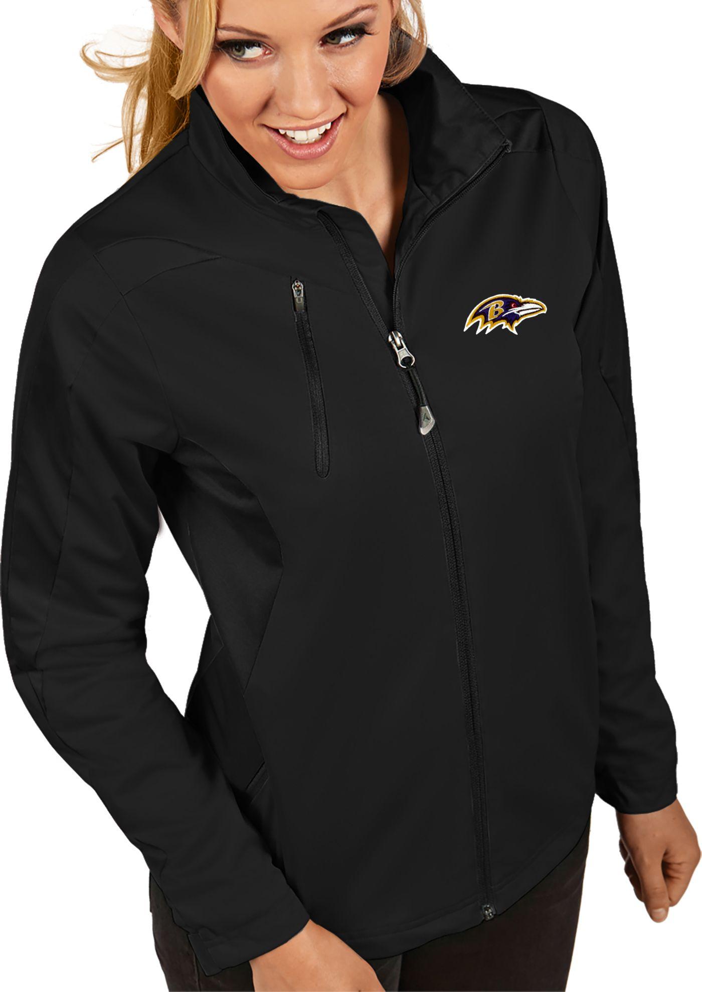 Antigua Women's Baltimore Ravens Discover Full-Zip Black Jacket