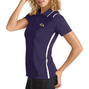 Antigua Women's Baltimore Ravens Merit Purple Xtra-Lite Pique Polo