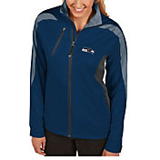 Antigua Women's Seattle Seahawks Discover Full-Zip Navy Jacket