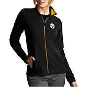 Antigua Women's Pittsburgh Steelers Leader Full-Zip Black Jacket