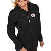 Antigua Women's Pittsburgh Steelers Discover Full-Zip Black Jacket