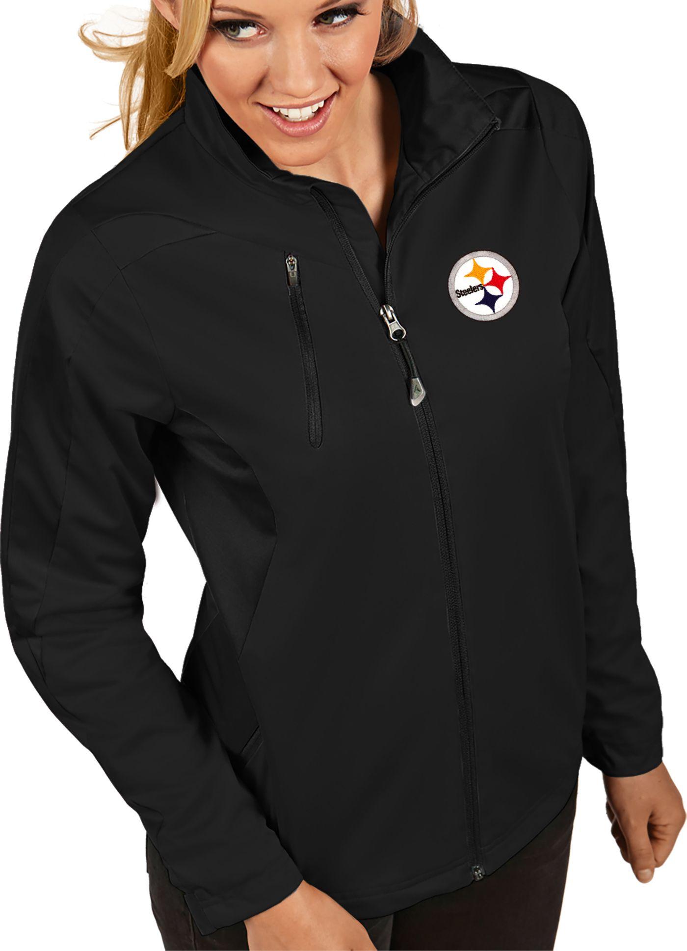 Antigua Women's Pittsburgh Steelers Discover Full-Zip Black Jacket