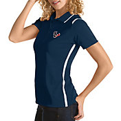 Antigua Women's Houston Texans Merit Navy Xtra-Lite Pique Polo