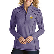Antigua Women's Minnesota Vikings Tempo Purple Quarter-Zip Pullover