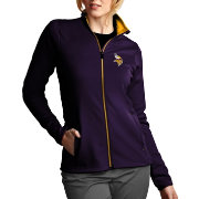 Antigua Women's Minnesota Vikings Leader Full-Zip Purple Jacket