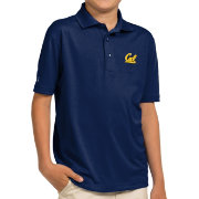 Antigua Youth Cal Golden Bears Blue Pique Polo