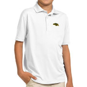 Antigua Youth North Dakota State Bison White Pique Polo