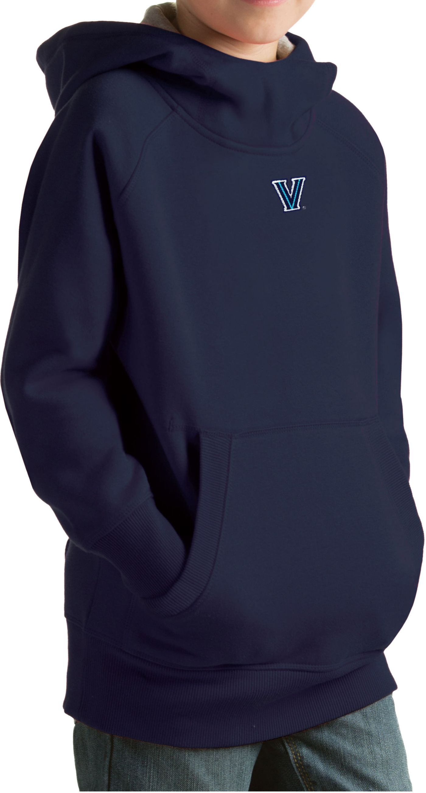 Antigua Youth Villanova Wildcats Navy Victory Pullover Hoodie