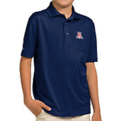 Antigua Youth Arizona Wildcats Navy Pique Polo